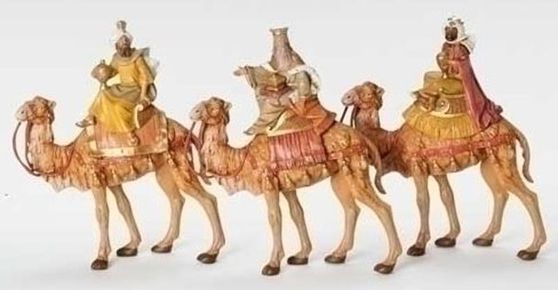 """7.5"""" Three Kings on Camels,51814"""