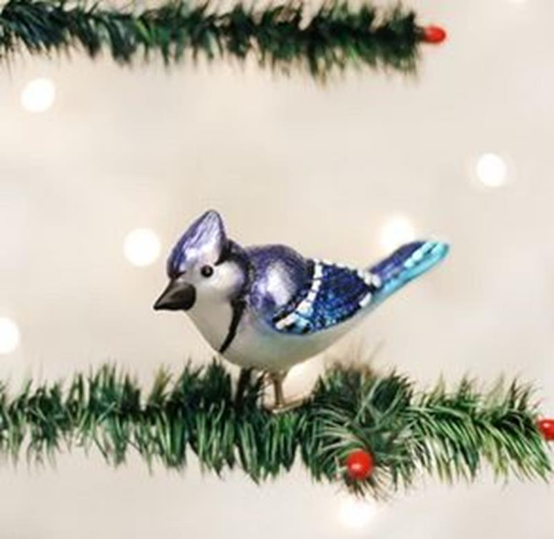 Bright Blue Jay Ornament,18080