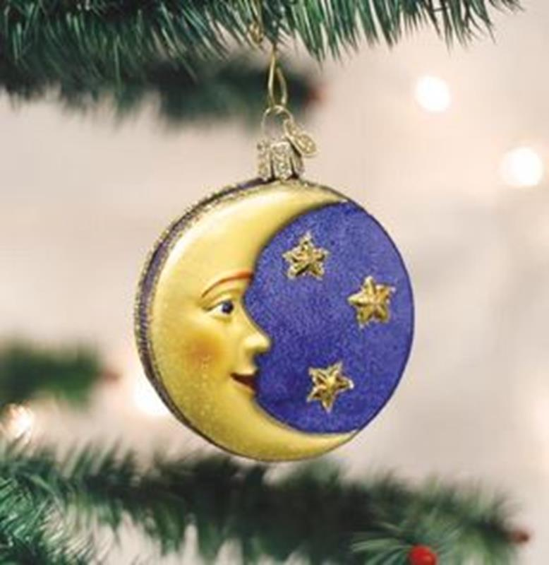 Man In The Moon Ornament,22018