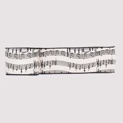 10yds Musical Notes Ribbon,T0023
