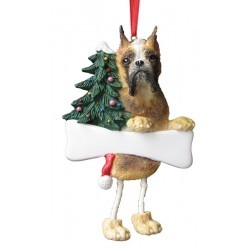 Boxer Fawn Cropped Dangly Ornament,35356-7