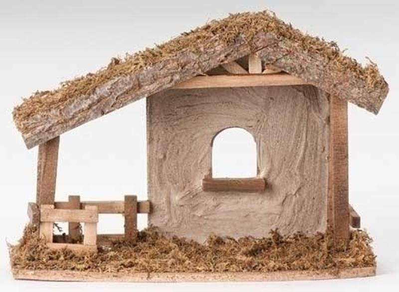 "5"" Wooden Stable w/ Fence,50556"