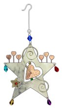 Rising Star Metal/Bead Crafted Ornament,963-0226
