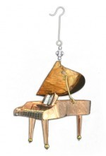 Steinway Grand Piano Beaded Metal Ornament,963-0887