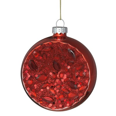 Red Witches Eye Ornament,555682