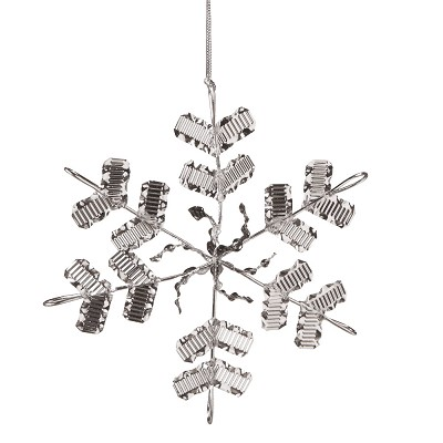 Silver Snowflake Acrylic Ornament,586921