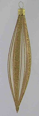 Teardrop Clear with Gold Glitter Stripes,TR183