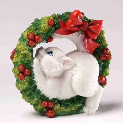 Cat with Chistmas Wreath,4027987