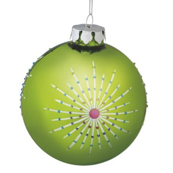 Green Graphic Ball Orn,70000