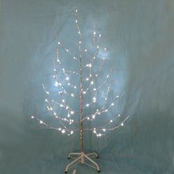 6' Silver Twig Tree with LED Twinkle Lites,TR1328TW