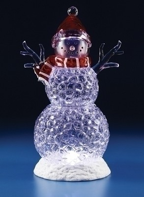 """20"""" LED Icy Snowman,33450"""