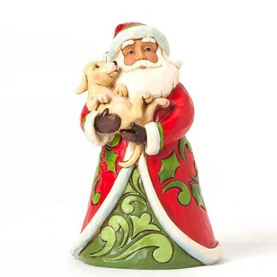 Pint Sized Santa with Puppy,4041071