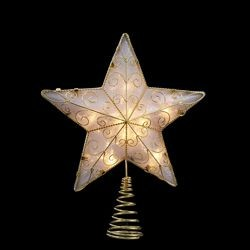 Gold Reflector Star Treetopper,UL1881